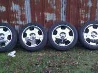 Have a really nice set of chrome 6 lug wheels and tires