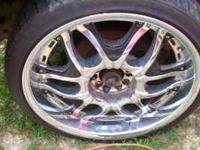 I HAVE A SET OF RIMS & TIRES I NEED 2 SALE U CAN CALL