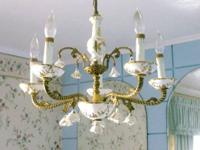 This is a fabulous vintage French chandelier.