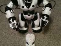 selling a wow wee walking talking robot with remote,