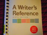 *A Writer's Reference 6th edition 2009 MLA Update By: