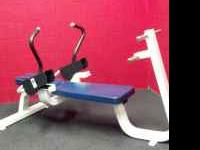AB BENCH, COMMERCIAL GRADE, SOLID MACHINE, NO RIPS OR