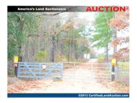 Online Auctions Georgia hunting lodge offers 1+/- acres