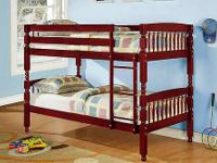 ABBY BUNK BED * Twin/ Twin bunk bed can be separated *
