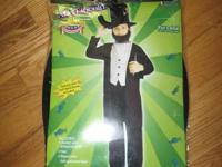 Abe Lincoln Costume  Youth Large age 12-14  Costume was