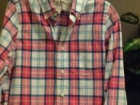 Abercrombie men's long sleeved plaid shirt.  Great