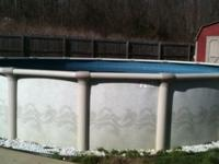 Above ground pool 24 ft round 52 inch deep and all pool