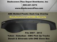 Glue this ABS Molded Plastic Dash Cap Overlay right