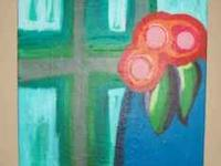 """Abstract Flowers"" 2011 by LISA JO 16"" x 20"" abstract"