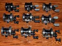 For Sale/9 total reels for sale/LEFT HAND RETRIEVE