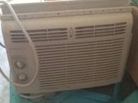 Frigidaire AC window unit.  Works great!!  5,000 BTUs