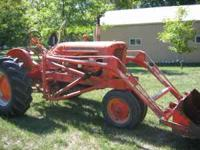 Good and solid Allis-Chalmbers WD tractor with loader.