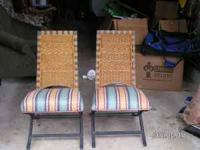 Two very nice accent chairs made of wrought iron(heavy)