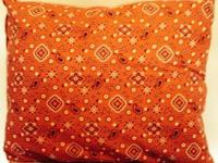 "2 red bandana pillows.  21"" x 19"".  $10 for both."