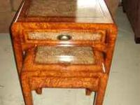 FOR SALE A CUTE LITTLE SET OF ACCENT TABLES. THE