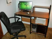 Acer Computer complete with component desk & swivel