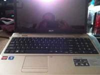 New acer laptop. 15.6 16.9 hd LCD screen. 4gb memory.