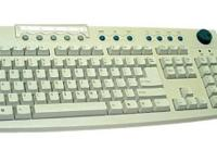 An Acer media white USB desktop Keyboard model 6511-UV.