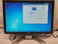 """Acer P191w -19"""" @ 1400x900 -75Hz Refresh rate -VGA and"""