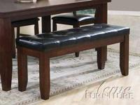 This elegant, transitional Urbana Dining Bench offers