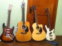 i have 4 guitars for sale, two acousics, 1 electric,