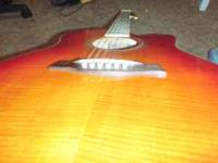red/orange sunburst acoustic/electric Ibanez very good