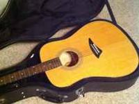 Brand new (used only once) Dean accoustic guitar with