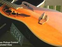 For sale as is, an Ovation Deluxe acoustic / electric