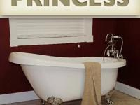 This stylish, lightweight acrylic slipper tub, the