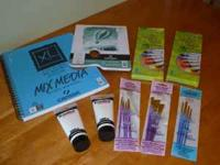 Acrylic Paints - Brushes - Media Set - All Brand New -