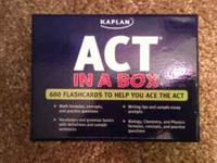 ACT in A Box by Kaplan. 600 Flashcards to help you ace