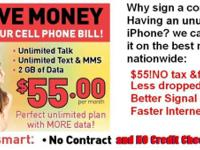 Put your phone on prepaid plan, no contract, no credit