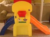 Activity set with sliding board. Barely used. Excellent