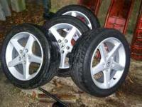 I AM SELLING MY RSX 16 INCH RIMS WITH THE TIRES