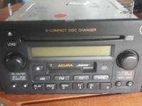 I am selling a used Acura radio 6 disc cd changer with