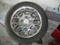 two acura cl 16 spoke OEM chrome rims with 205/55/16