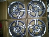 I'm selling a set of Silver Acura TL A spec rims, These
