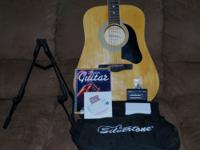 Silvertone 40 inch Pro Series Acoustic Guitar, with