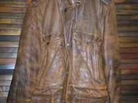 Adam Spencer Leather Jacket Size 42 in very good