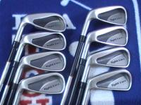 For sale a left handed set of Adams Tight Lies 3-PW