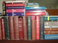 I have many old law books for sale from a small,