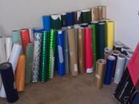 I have alot of commercial grade adhesive vinyl rolls
