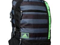 With plenty of compartments and a padded laptop sleeve,