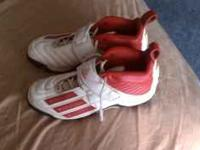 Used for one season (only 4 games) Molded spikes in