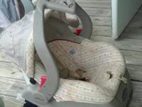 -*evenflo* baby carseat with base for $8 (manufactured