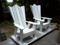 These Adirondack chairs are made from 100% treated