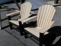 Cedar & Black Adirondack Chairs Marked down from $300