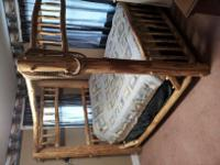 This is an Adirondack log bed in very good condition.