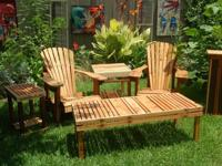 Quality handcrafted Adirondack chairs and tables, made