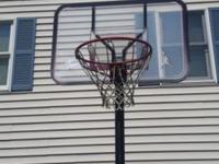 For sale is basketball hoop used but a lot cheaper than